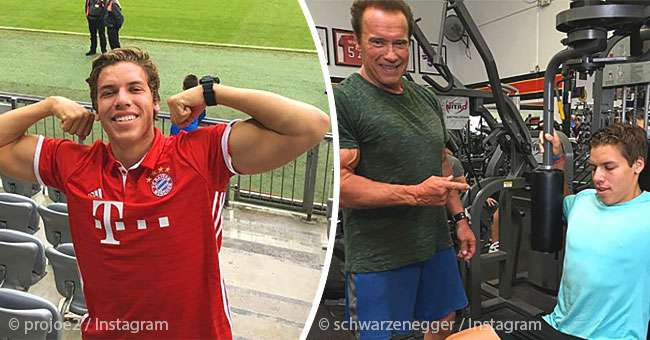 Arnold Schwarzenegger's Late-To-Be Acknowledged Son, Looks ...