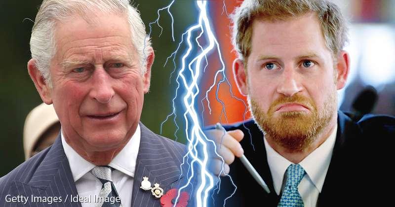 Que s'est-il passé ? Harry snobe le prince Charles à la F?