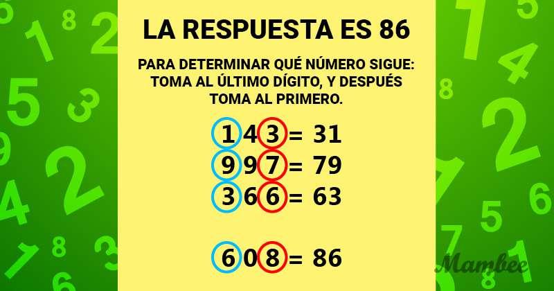 Esta secuencia no puede quedar a medias, es necesario señalar de prisa al número que la completa