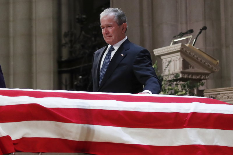 George W. Bush Breaks Down During Eulogy To His Dad: 'He's Hugging Robin And Holding Mom's Hand Again'George W. Bush Breaks Down During Eulogy To His Dad: 'He's Hugging Robin And Holding Mom's Hand Again'George W. Bush Breaks Down During Eulogy To His Dad: 'He's Hugging Robin And Holding Mom's Hand Again'