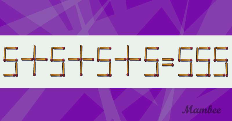 Complicado, pero divertido: una sola cerilla debe ser movida para que la ecuación sea correcta